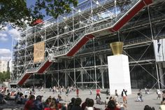 Paris, France...the centre pompidou moderne, one of the coolest museums in paris. the escalador is on the outside of the building, which is very trippy! a must see when going to paris!