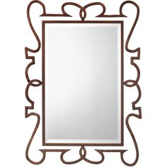 Wall mirror with a scrolling metal frame.   Product: Wall mirrorConstruction Material: Steel, resin, engineered hard...
