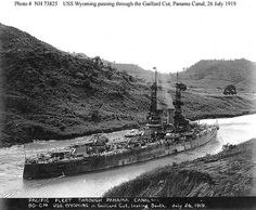 USS Wyoming, BB-32, 1919. Yes, those are four twin turrets aft of the masts. Armed with 12 12-inch guns.