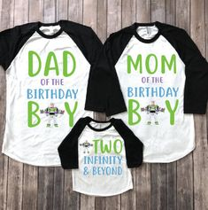 Buzz lightyear two infinity and beyond buzz shirt toy 2nd Birthday Party Themes, Toy Story Birthday, Mom Birthday, Birthday Shirts, Birthday Ideas, Cowboy Birthday, Cowboy Party, Buzz Lightyear Costume, Toy Story Shirt