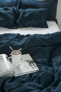 Linen bedding set in Navy Blue. 3 piece washed linen set includes two p : Linen bedding set in Navy Blue. 3 piece washed linen set includes two p Navy Blue Bedding, Navy Duvet, Linen Duvet, Linen Pillows, Blue Pillows, Linen Fabric, Bed Linen Sets, Duvet Sets, Duvet Cover Sets