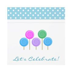 Candy and Polka Dots Party Invitations