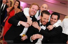 The groom having lots of fun with his groomsmen at the #wedding #party @Eden Catering, Eden Roc Hotel in South Beach! #Wedding #Reception #Party picture by #DominoArts #Photography (www.DominoArts.com)