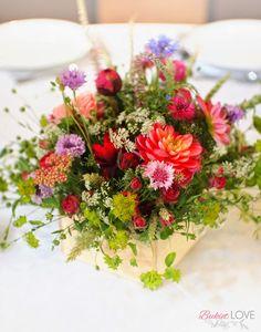 polne kwiaty na ślubie
