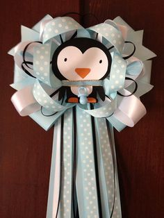 Baby Penguin Mommy-To-Be Corsage.
