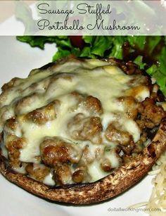 Do It All Working Mom - Sausage Stuffed Portobello Mushroom