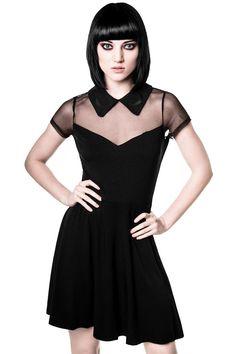 XS Black KILLSTAR Dana Skater dress