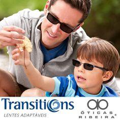 Você já experimentou as lentes Transitions?  As lentes Transitions são totalmente adaptáveis a qualquer condição de luminosidade, podendo seu usadas por adultos e crianças! Compatíveis com praticamente todos os tipos de armação, protegem 100% contra os raios UV!   Saiba mais http://oticasribeira.wordpress.com/2014/03/31/lentes-transitions-totalmente-adaptaveis/  (Fonte: Transitions)