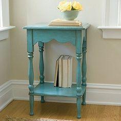 hallway table turquoise
