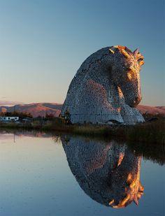 Giant Horse Head Sculpture