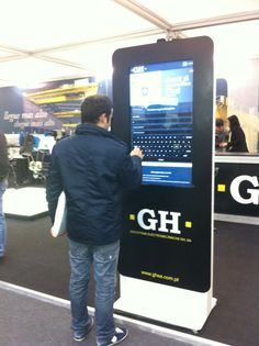 STYLO interactive kiosk with large screen and exhibition. By PARTTEAM & OEMKIOSKS. See more at www.oemkiosks.com