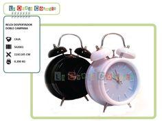 Reloj Despertador Doble Campana - Promoción -15% = $89 (antes $105.-)