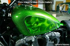 green motorcycle paint ideas | Pearl Auto Paint