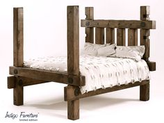 cheap wooden bed frames king size reclaimed beam bed this is so cool will work in rustic or contemp