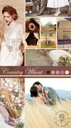Vintage and Rustic Inspired Country Wheat Wedding Inspiration http://vintagetearoses.com/country-wheat-wedding-inspiration/