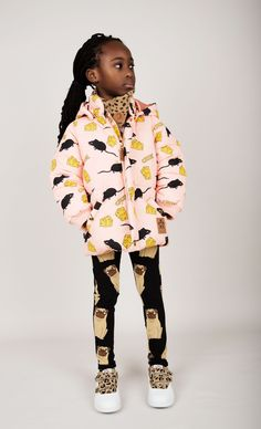Mini Rodini AW14 Quel Carrousel! Pug Print Leggings and Mouse And Cheese Print Jacket