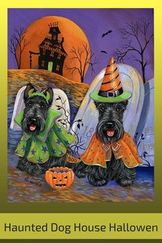 Haunted house wall decorations are wicked awesome for  Halloween Home décor 2017. You will  appreciate this if you love haunted house wall art. As this is the epitome of spooky, scary, evil  and creepy Halloween wall art      Haunted Dog House Halloween