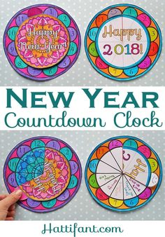 Here is a fantastic New Year Countdown Clock Papercraft to keep track of time. Craft with Hattifant. Printables available!