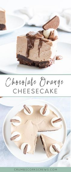 This no-bake Chocolate Orange cheesecake with a Bourbon biscuit crust and a rich chocolate orange filling, it's absolutely irresistible and so easy to make! Best Cheesecake, Easy Cheesecake Recipes, Best Dessert Recipes, Easy Desserts, Party Recipes, Chocolate Orange Cheesecake, Chocolate Cream, Chocolate Desserts, Dessert Simple
