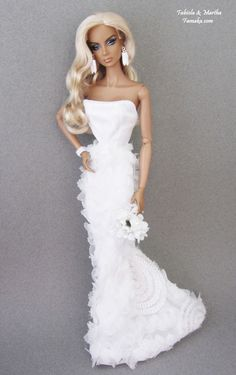 Famaka-- Fashion Royalty & Silkstone Barbie Bridal Fashion for OOAK