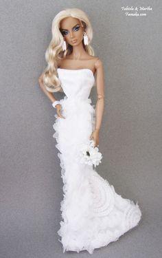 Famaka-- Fashion Royalty & Silkstone Barbie Bridal Fashion for OOAK