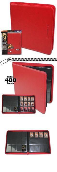 BCW PURPLE Gaming Card Z-Folio Zippered LX Leatherette Album w// 12 Pocket Pages