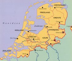 Geschiedenis van Nederland Holland Map, Amsterdam, European Map, Guernica, History Timeline, Balearic Islands, Old Maps, Historical Maps, Ancestry