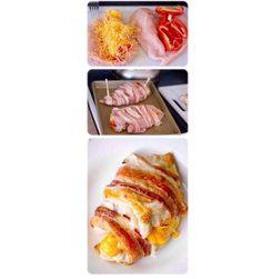 Original platillo con tocino y queso