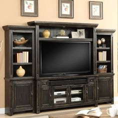 Living room built in entertainment center ideas decoration furniture best home centers on modern d . living room built in entertainment center ideas Basement Entertainment Center, Black Entertainment Centers, Entertainment Furniture, Entertainment Stand, Saloon, Console, Black Walls, Walmart, Decoration