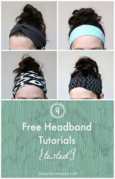 4 Free Headband Tuto