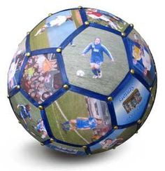 Photo Soccer Ball. This is really cool and smart! Creative!:
