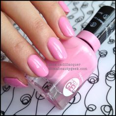 Sally Hansen Miracle Gel polish in Pink Cadillacquer ~ the Love Pink Color Collection