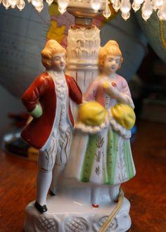Vintage Victorian Figurine Lamp. $12.00, via Etsy.