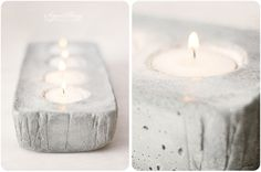 use an egg carton as a mold? / SignePling: [DIY] adventsstake i betong