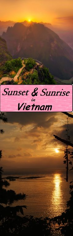 The sunset and sunrise in Vietnam are so amazing!!! This is how I see them through my eyes.  #travel #vietnam #asian #sunrise #sunset