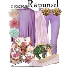 Rapunzel by leslieakay on Polyvore featuring Snobby Sheep, Calypso St. Barth, MET, J.Crew, 1&20 Blackbirds, Hermès, Forever 21 and Disney