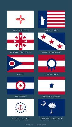 India Map, Alternate History, Flag Design, 50 States, North Dakota, Rhode Island, Overwatch, New Mexico, South Carolina