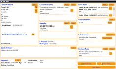 The main contact centre interface