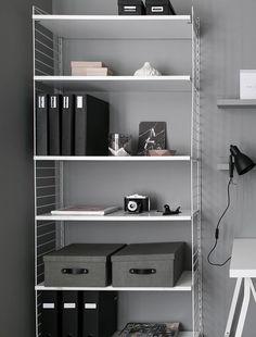 Workspace in grey - via Coco Lapine Design