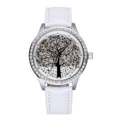 Dámské hodinky se zirkony strom bílé – dámské hodinky Na tento produkt se  vztahuje nejen zajímavá sleva 10f00cb11f4