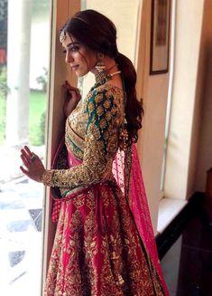 Details about Pink Lehenga Choli Designer Indian Ethnic Lengha Chunri Sari Bridal Wedding Wear - Indian Haute Couture - Indian Bridal Lehenga, Indian Bridal Outfits, Indian Bridal Wear, Pakistani Bridal Dresses, Indian Dresses, Rajasthani Lehenga, Pink Bridal Lehenga, Rajasthani Bride, Sabyasachi Lehenga Bridal