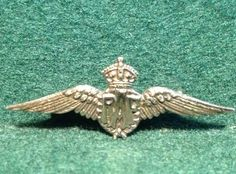 Vintage RAF Wings 9ct Gold Sweetheart Brooch, Herbert Bushell & Son Birmingham