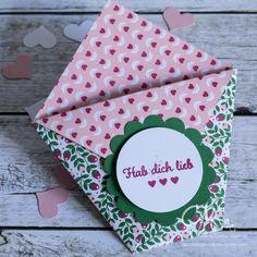 Goodies zum Valentinstag, kleine Tüte mit Merci gefüllt #CarosBastelbude