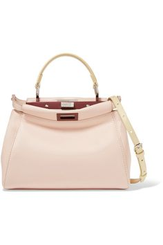 Blush and pastel-yellow leather (Lamb) Turn lock fastenings at top Weighs approximately 2.2lbs/ 1kg Made in Italy