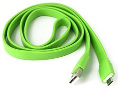 """myLife Chartreuse Green {Flat Durable Noodle Design} 6' Feet (1.8 Meter) Quick Charge USB 2.0 Micro USB to USB Data Sync Cord for Phones, Cameras, Tablets and GPS Devices """"SEE COMPATIBILITY"""" (Durable Rubber Coat) myLife Brand Products http://www.amazon.com/dp/B00NWTZ10K/ref=cm_sw_r_pi_dp_ue9tub1AZ25PT"""