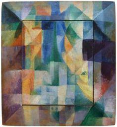 'Ventanas simultanas'  (1912), Robert Delauny. Arte moderno - Kunsthalle de Hamburgo (Alemania)