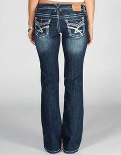 amethyst jeans celia pierce pocket bootcut jeans ($27) ❤ liked on