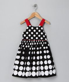 Take a look at this Black & Red Polka Dot Dress - Toddler & Girls by Donita on #zulily today! She also pretty in black/white and red!!! Ok, she's beautiful in all colors!!!!!
