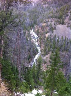 Waterfall south fork outside Cody Wyoming