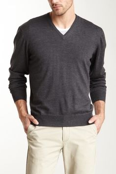 Gran Sasso Merino V-Neck Sweater on HauteLook